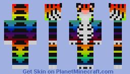 Rainbow Tiger Minecraft Skin