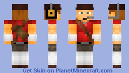 Team Fortress 2 RED Scout (Updated) Minecraft Skin