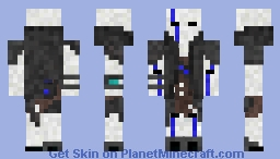 Blue Phantom Rider Minecraft Skin