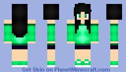 ºDianaº Blue and Green ^-^ (12 Subbies!! yay!!) Minecraft Skin