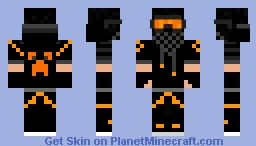 Orange Spleefer Minecraft Skin