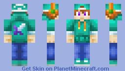 Turquoise Boy Minecraft Skin