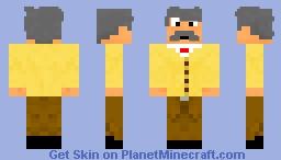 Albert Einstein Minecraft Skin