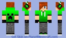 Boy in creeper's hoodie Minecraft Skin