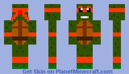 Turtle Ninja Michelangelo Minecraft Skin