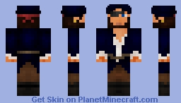 Captain Blue Minecraft Skin