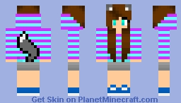Diamond Fox Girl Minecraft Skin