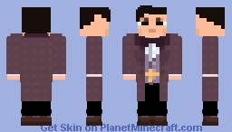 11th Doctor-Purple Coat- Doctor Who Regeneration Series (1.7) Minecraft Skin
