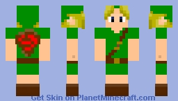 Kid Link From Ocarina of Time Minecraft Skin