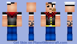 Popeye (Life on the High Seas Contest) Minecraft Skin