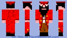 Black Beard 1.8 skin (was for contest but i missed it) Minecraft Skin