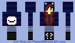 ~~Foxy Natsuki~ Cry Hoodie Minecraft Skin