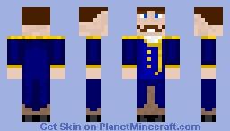 Admiral Gustav Minecraft Skin