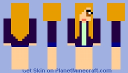 fire pirate girl disguised as a US girl! Minecraft Skin