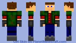 dude with camo jacket Minecraft Skin