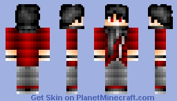 Satorus minecraft skins new on planet minecraft satoru black and red guy requested minecraft skin sciox Gallery