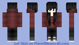 black hair Minecraft Skin