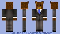 Bear in a Suit Minecraft Skin