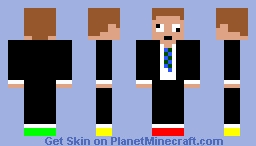 crazy suit guy Minecraft Skin