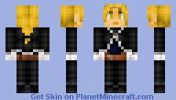Edward Elric (Fullmetal Alchemist Brotherhood) Minecraft Skin