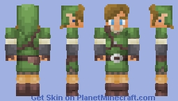Link, the Hero of the Goddess Minecraft Skin