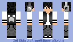 Black and White~ JӨY Minecraft Skin