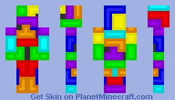 Tetris Man (Better In Preview!!) Minecraft Skin