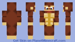 Donkey Kong (Mouth looks better in Preview) Minecraft Skin