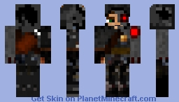 Mothman, the Cyborg Minecraft Skin