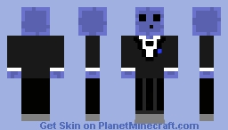 Blue Slime with Suit Minecraft Skin