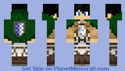 attack on titan eren minecraft skin