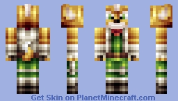 Fox McCloud Minecraft Skin