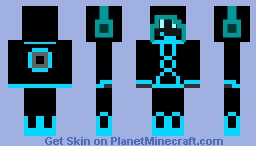MasterTron BlueTeam Minecraft Skin