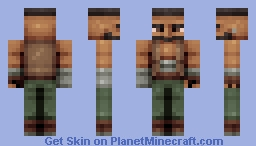Barret Wallace - FF7 Minecraft Skin
