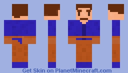 steve the removed mob Minecraft Skin
