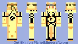 Naruto Bijue mode Minecraft Skin