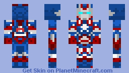 The Iron Patriot Minecraft Skin