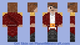 Pirate with an eye patch Minecraft Skin