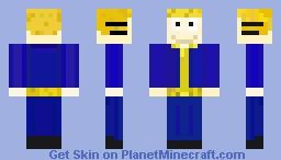 a skin of my avatar vault boy Minecraft Skin