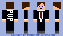 Cartoon Tie Guy Minecraft Skin
