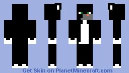 Black minecraft cat Minecraft Skin