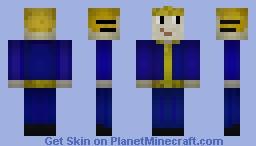 Vault boy (REVAMPED) Minecraft Skin