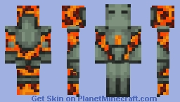 Hellstone armor (Terraria) Minecraft Skin