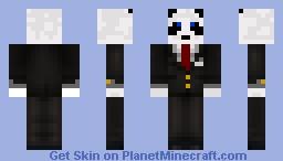 suited panda Minecraft Skin