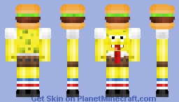 ➒➌ Spongebob The Burger HD SUB SPECIAL Minecraft Skin - Spongebob skins fur minecraft