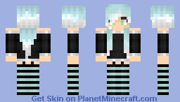 white and blue and black and have a very bad name! Minecraft Skin