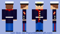 The United States Marine Corps Dress/Uniform Minecraft Skin