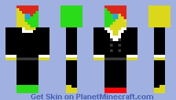 chrome-man in a suit Minecraft