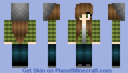 +J3NN+ ~ Brown Hair Girl Minecraft Skin