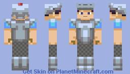 Drifting Breeze Iron Armour Minecraft Skin